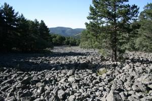 Río de piedra en los tremedales de Orihuela del Tremedal