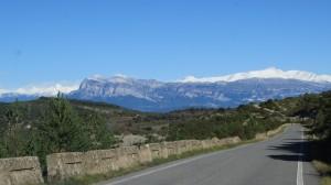 Carretera paisajistica cerca de Bárcabo (Huesca)